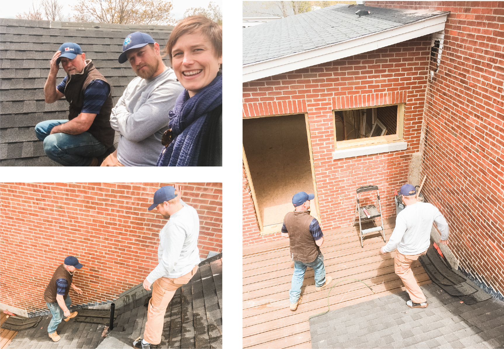Sometimes you just have to get on the roof to check on progress. 🏡 This is Ben 🧔🏼 the owner & Jeff 👨🏼‍🔧 the contractor at one of our biweekly site meetings. We used this perch to discuss the various vents that penetrate our main roof.... Work doesn't feel like work when your clients and colleagues are as cool as these two. ☺️  Do you live in Maine 🌲 and need help managing your project? Give me a call. 🙋🏻‍♀️ I'm ridiculously organized and an awesome communicator, two things often missing from construction projects.