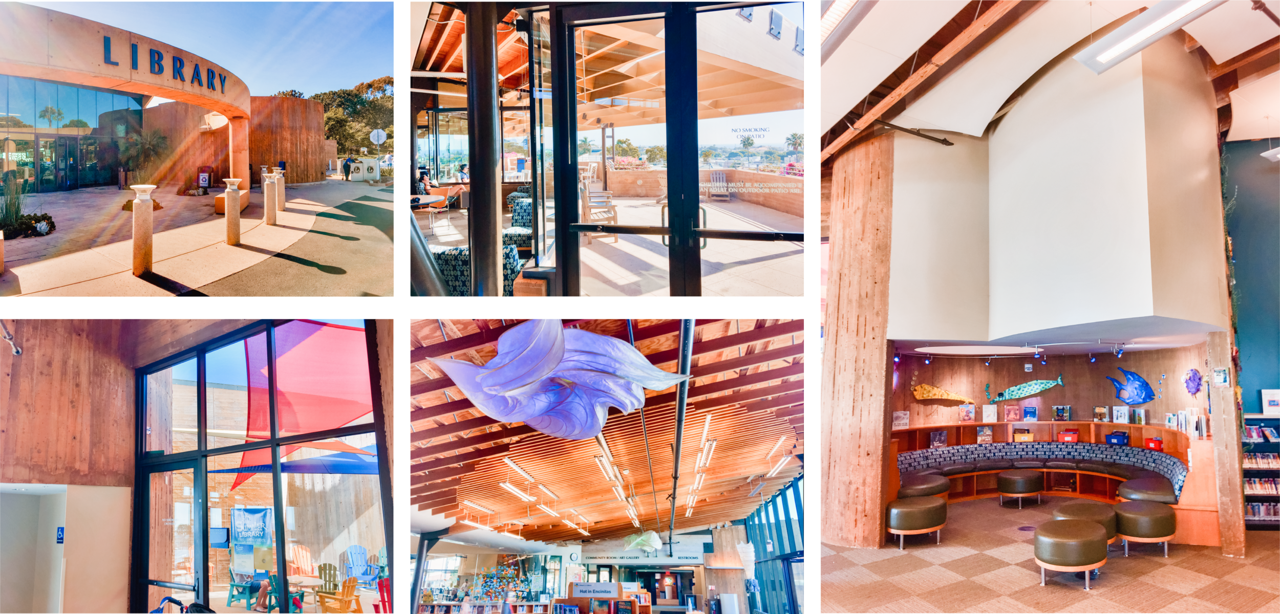I recently visited the Encinitas public library and WOWZA 🤩. Those light fixtures! And the roof lines! And the lighting! Oh my! What an incredible building by Manuel Oncina Architects. Do you have a favorite library? 📚