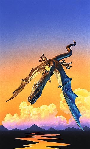 "Tim White's cover for the original Avon edition of ""Riverrun"""