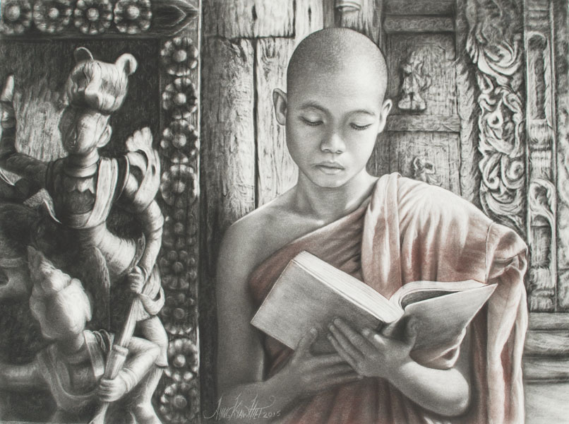 Studious Monk  • Aung Kyaw Htet