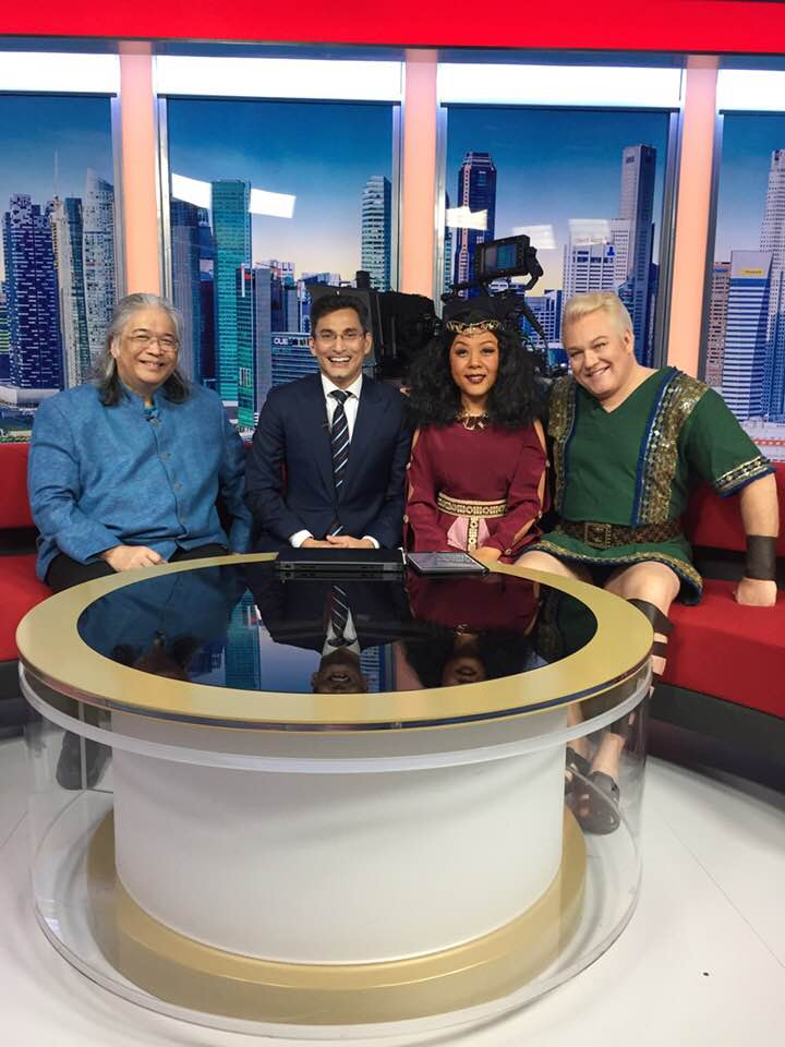 Nancy Yuen, Tomas Ruud, and Somtow appear on Singapore's morning news