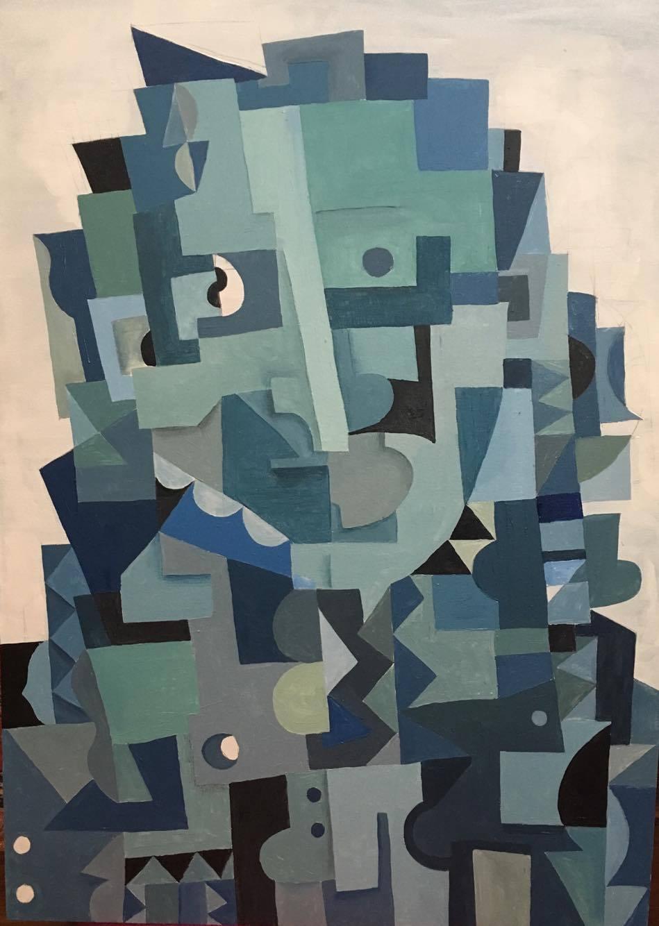 Blue Cube Man