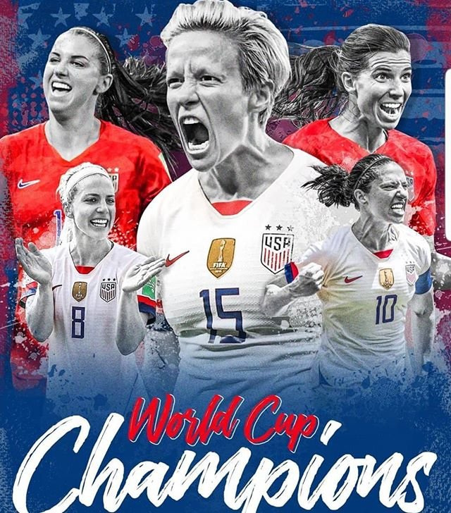 Can you say DYNASTY?!!! The USWNT runs it BACK to get the BACK-TO-BACK! WORLD CUP CHAMPS AGAIN! Well done LADIES! They love to hate your GREATNESS! Way to rep the #USA TRULY AWESOME! 4 time CHAMPS! #goat  #greatness #2019worldcup #sports #futbol #ibelievethatwewillwin