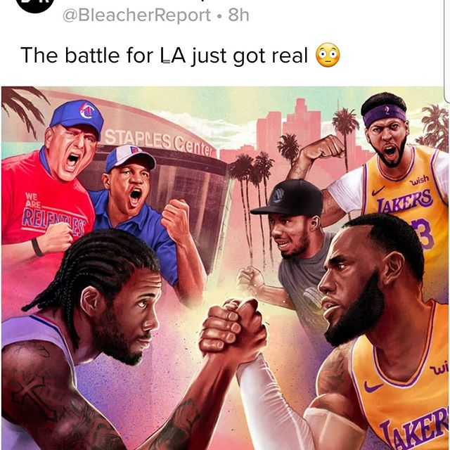 Yo!!! The #NBA is CRAZY! PG-13 AND Kawhi to the Clippers! Staples Center as the home of Western Conference Finals?? #nbafreeagency #nbatrades