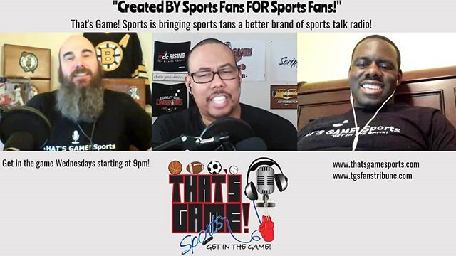 It may be the #nba and #nfl offseasons, but there is no such thing as an offseason in #sportstalkradio! Tune-in and lock-in...get in the game and stay in the game with That's Game! Sports! Live on Weds at 9pm (est)...podcasts are available 24/7! https://t.co/q2E8gLpNVw https://t.co/IWWcLI1XaH