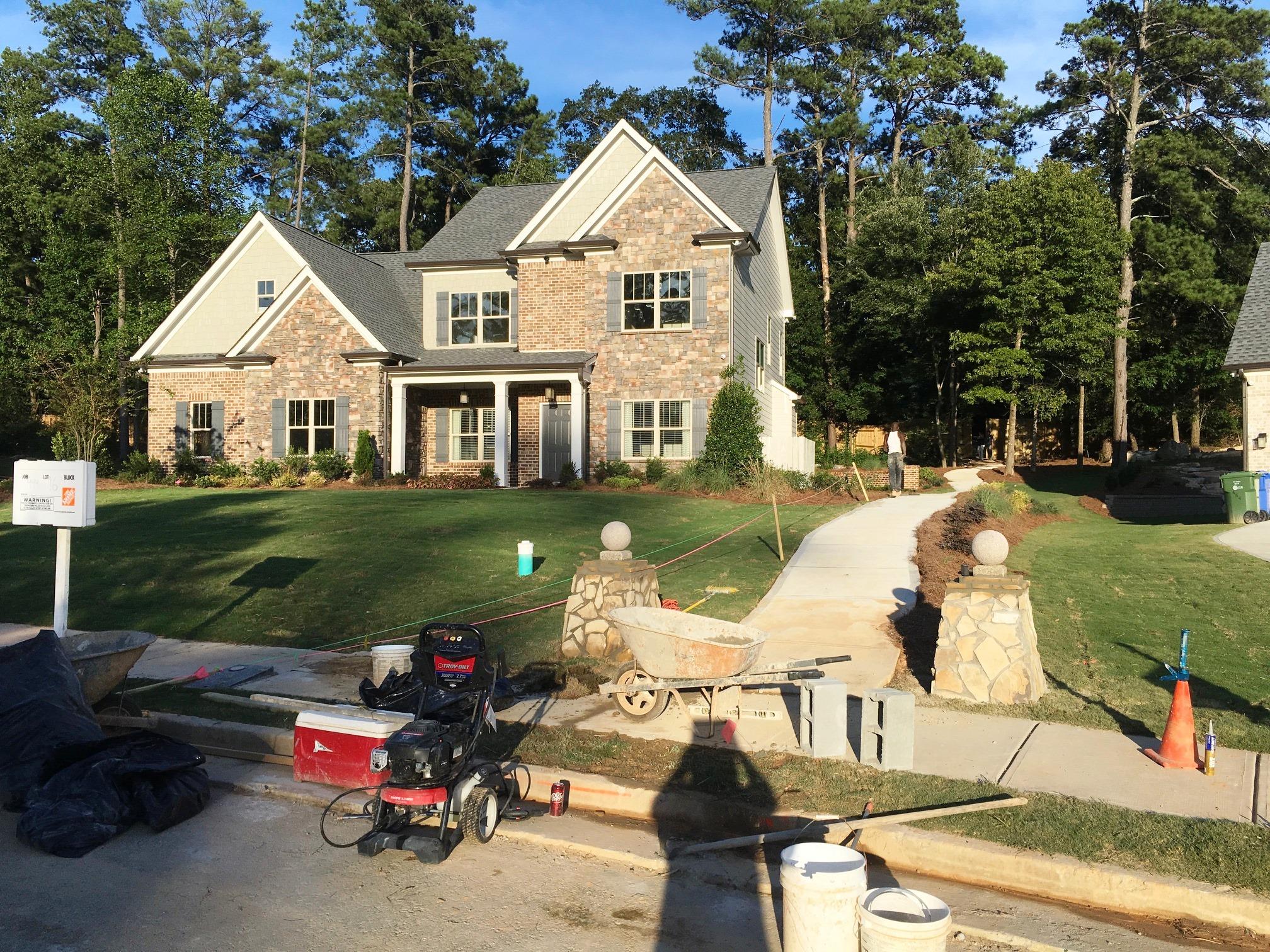 Model Home &Entrance to Atlanta BeltLine (through the Lionel Hampton Trail) -August 18, 2018