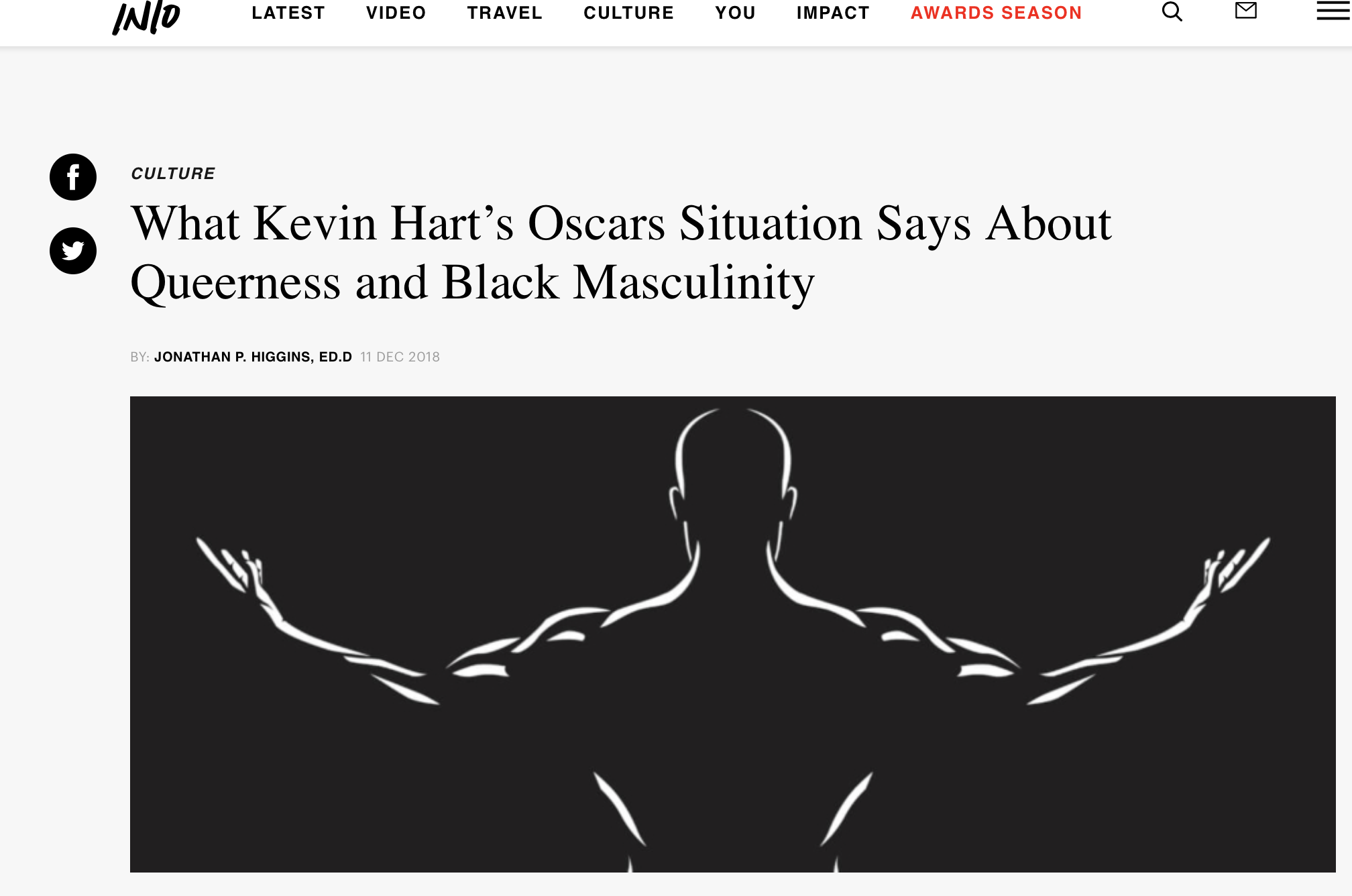 INTO | What Kevin Hart's Oscars Situation Says About Queerness and Black Masculinity - The complication lies in the idea Black men are taught from a young age that, because of the oppression they will already face for their racial background, their heterosexuality is the only thing they have in terms of access to privilege.