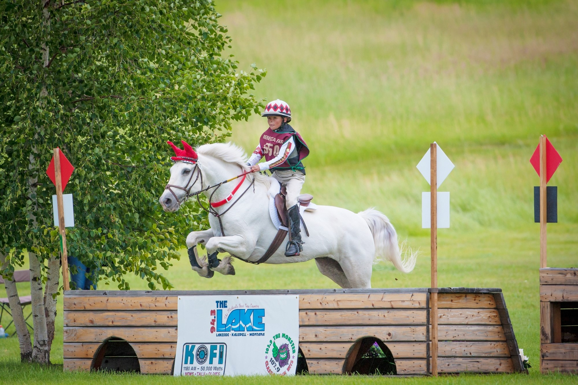 Taylor McFall and Killbarry Prince on their way to a clear round on the cross-country course in the Novice Classic Three-day at the Event at Rebecca Farm. (Photo - Stockimageservices.com.)