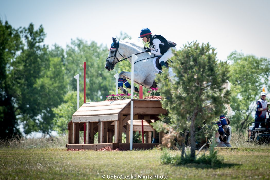 Young Rider Clara Cargile and White Indian at the 2016 NAYRC.