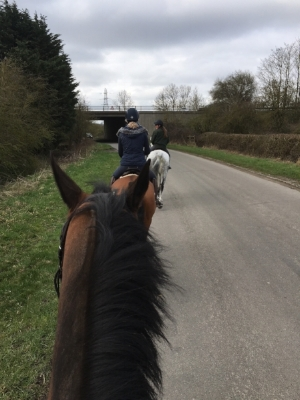 Hacking on the country lanes. (Photo - Madeline Backus)