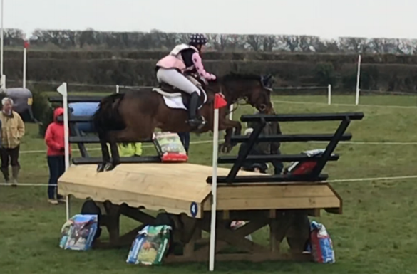 Fence #4 at Burnham Market - a sizable table followed by two open corners . (Photo - Amy O'Connor)