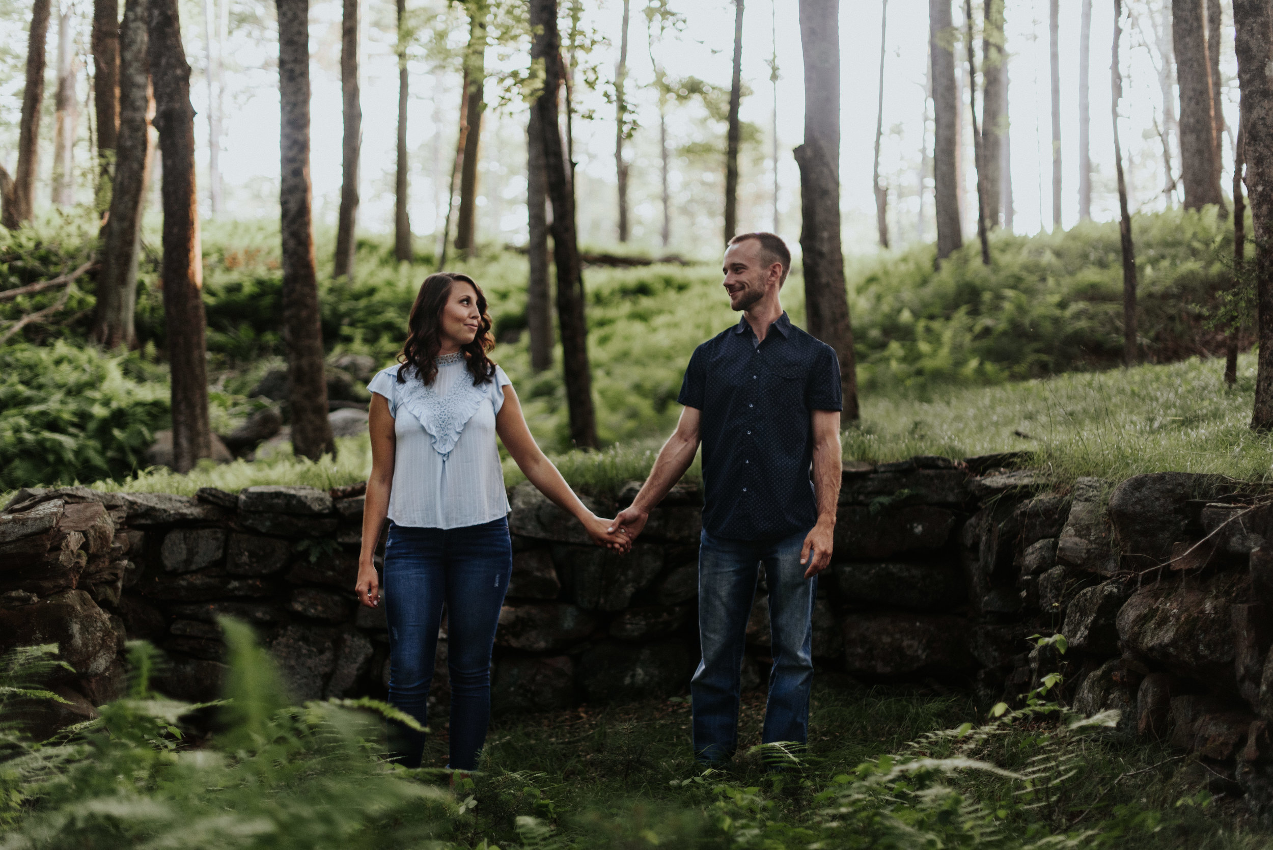 Amanda & Sean-Massachusetts-Forest Waterfront Engagement Session-Woodsy Outdoor Couples Session-Photographer-55.jpg