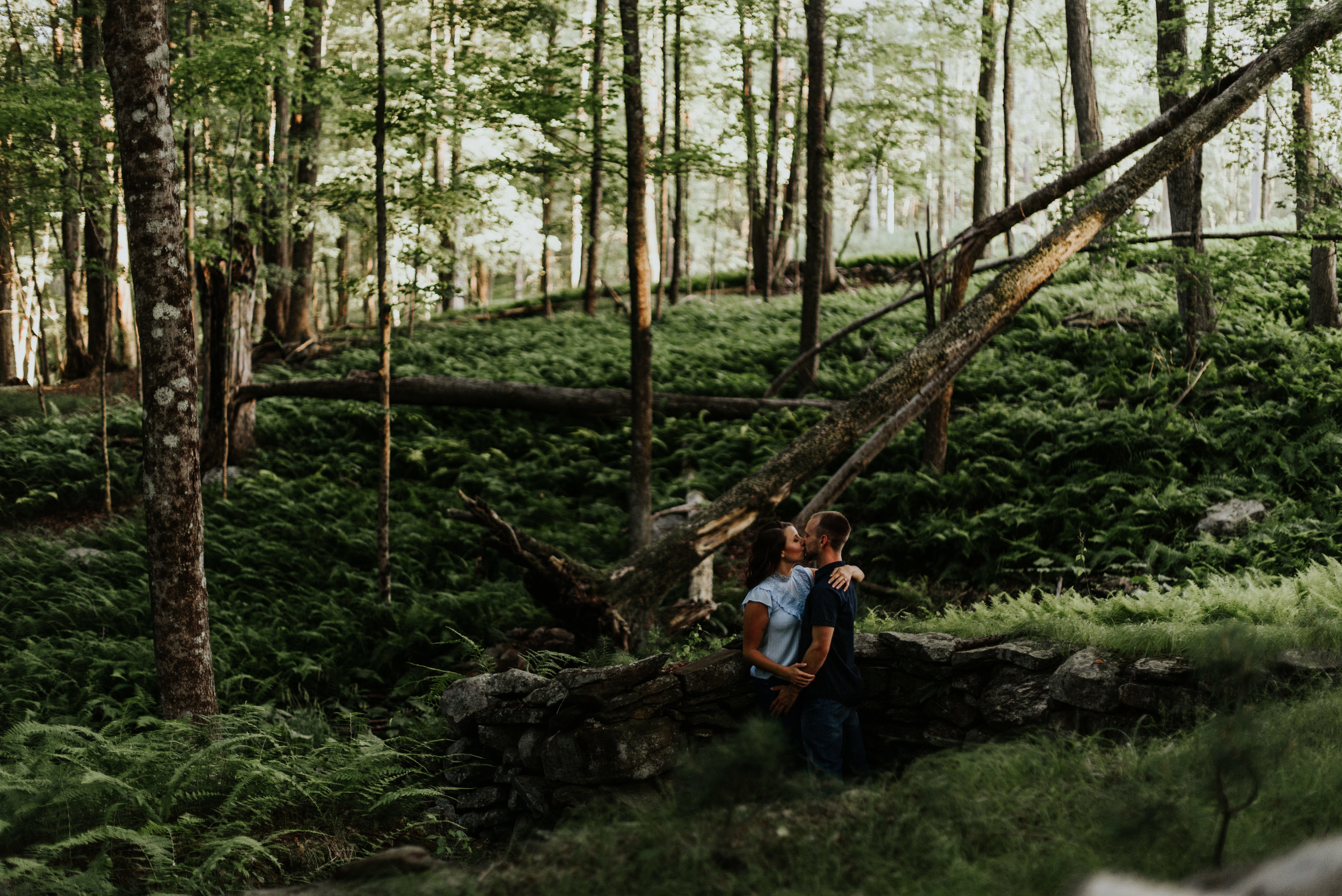 Amanda & Sean-Massachusetts-Forest Waterfront Engagement Session-Woodsy Outdoor Couples Session-Photographer-110.jpg