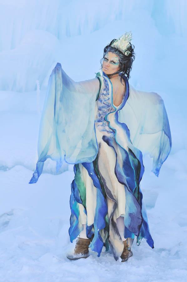 Stephanie H Ice Queen Felting Dress made of wool 5.jpg