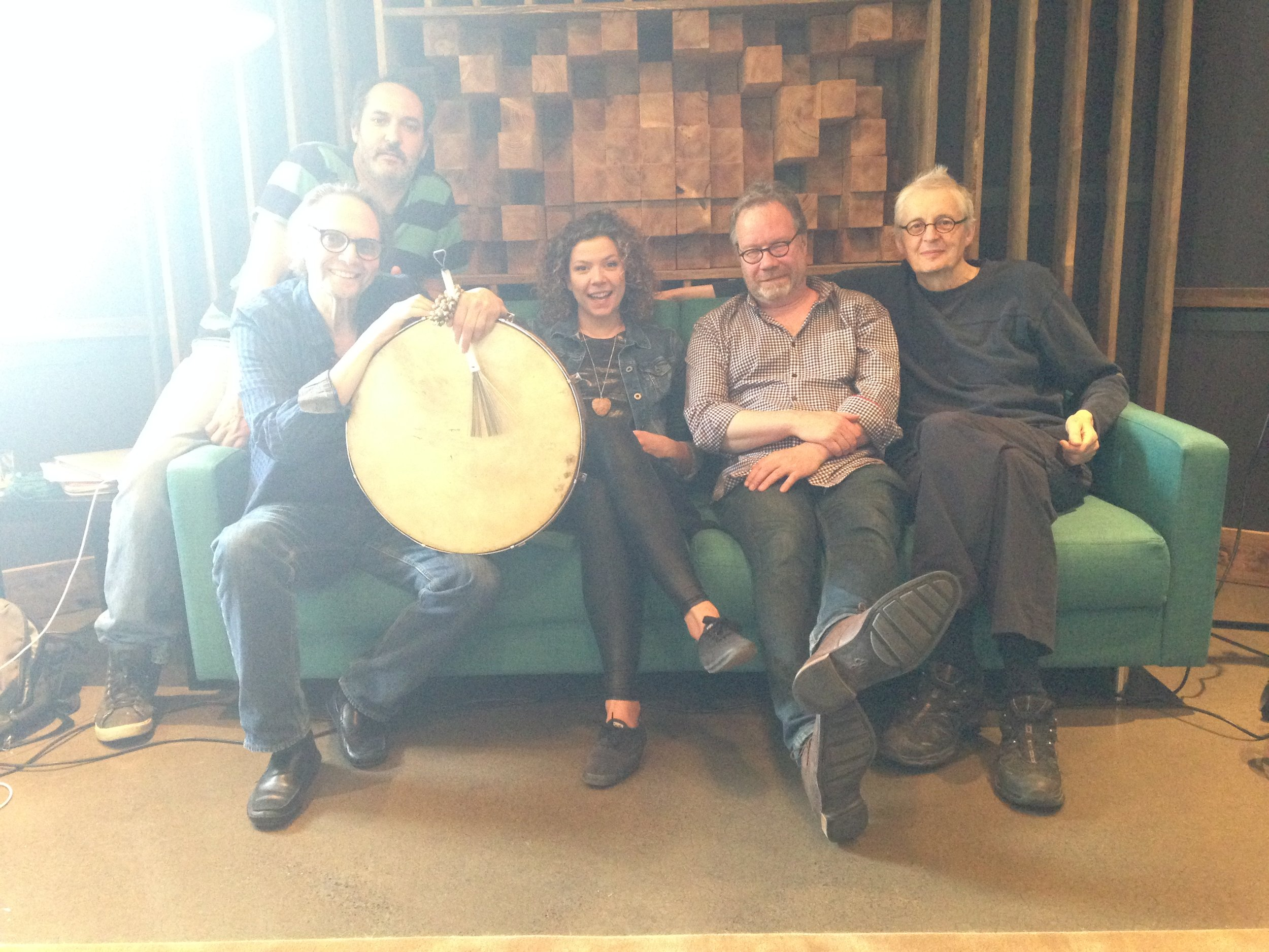 Photo de famille: Justin Allard, Paul Picard, moi, Marc Pérusse et Daniel Hubert.