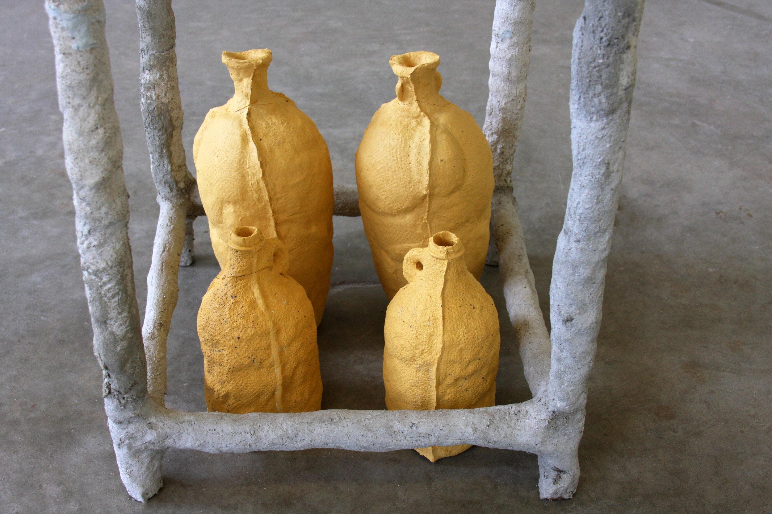 slip-cast dyed porcelain vessels