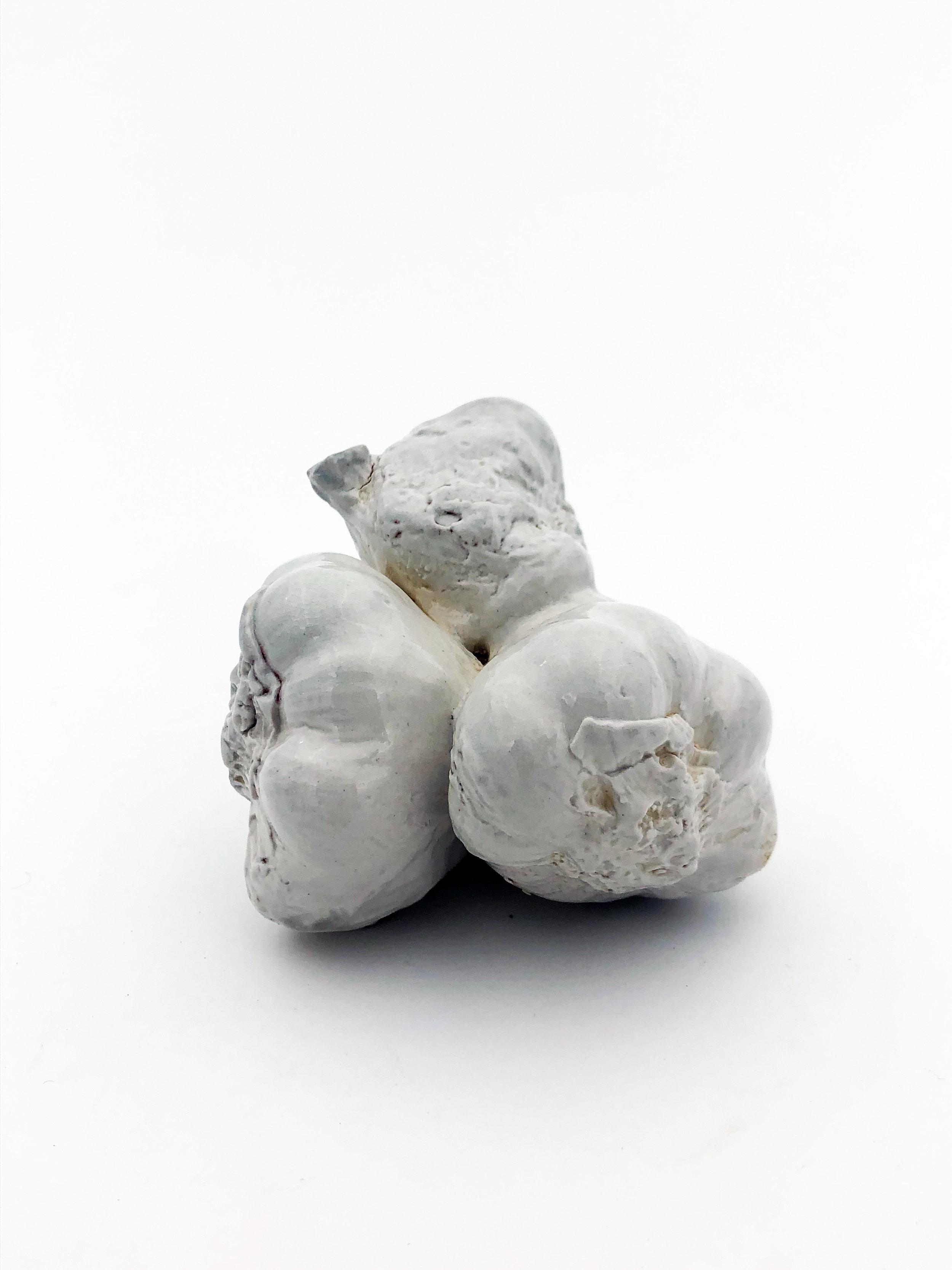 Soda Fired Slip Cast Porcelain Garlic