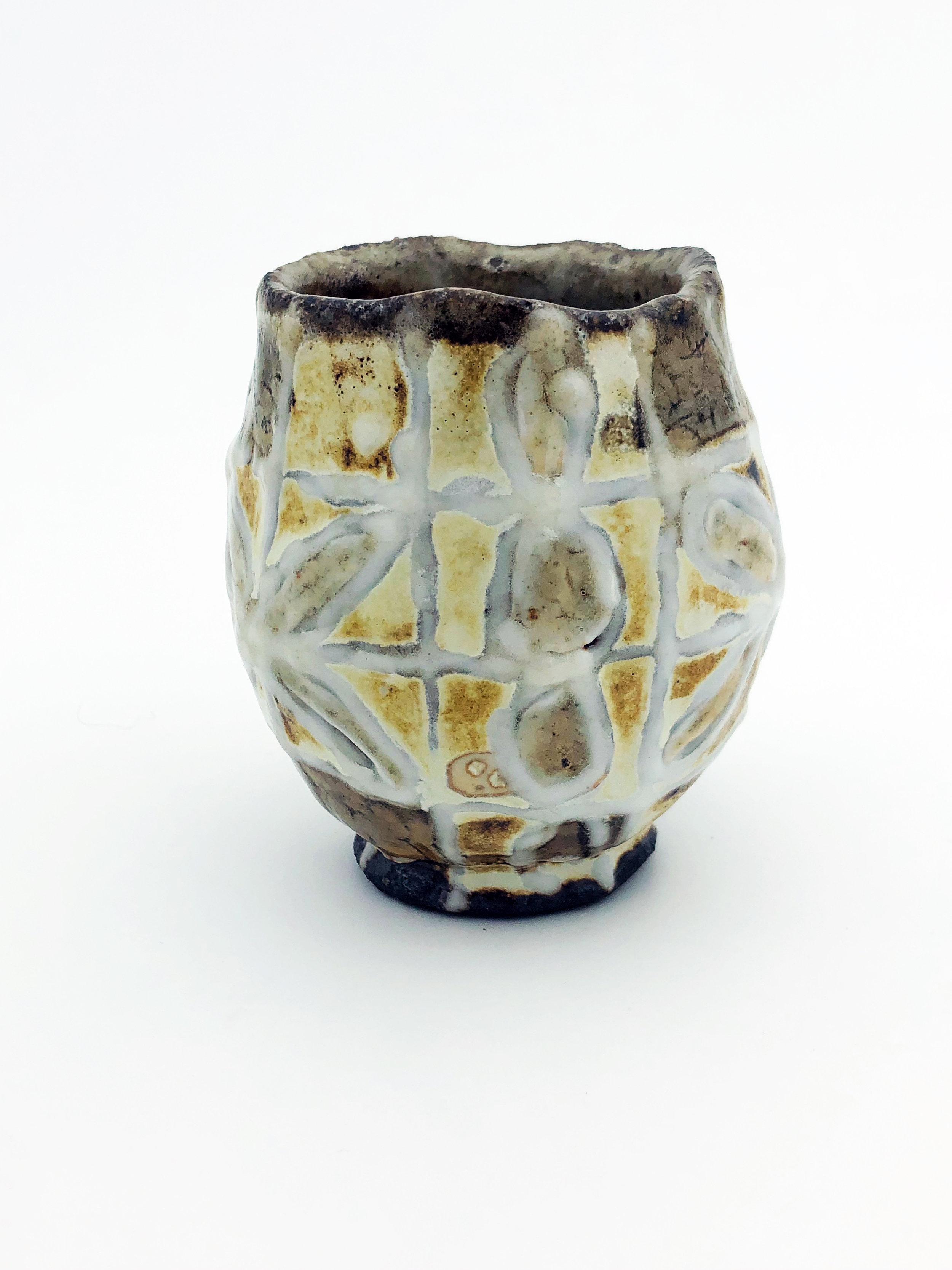 Soda Fired Cup, Hand Built Stoneware