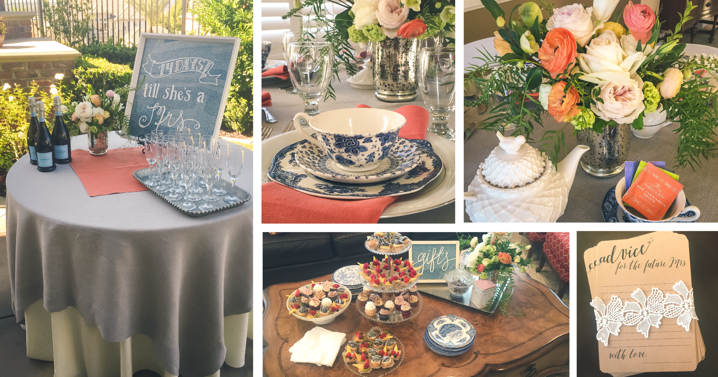Planning:  Renee Elise Luxury Events  - Venue: Private Residence -Catering:  Jay's Catering  - Linens:  La Tavola Fine Linen  - China:  Dish Wish  - Florals:  Bellatula