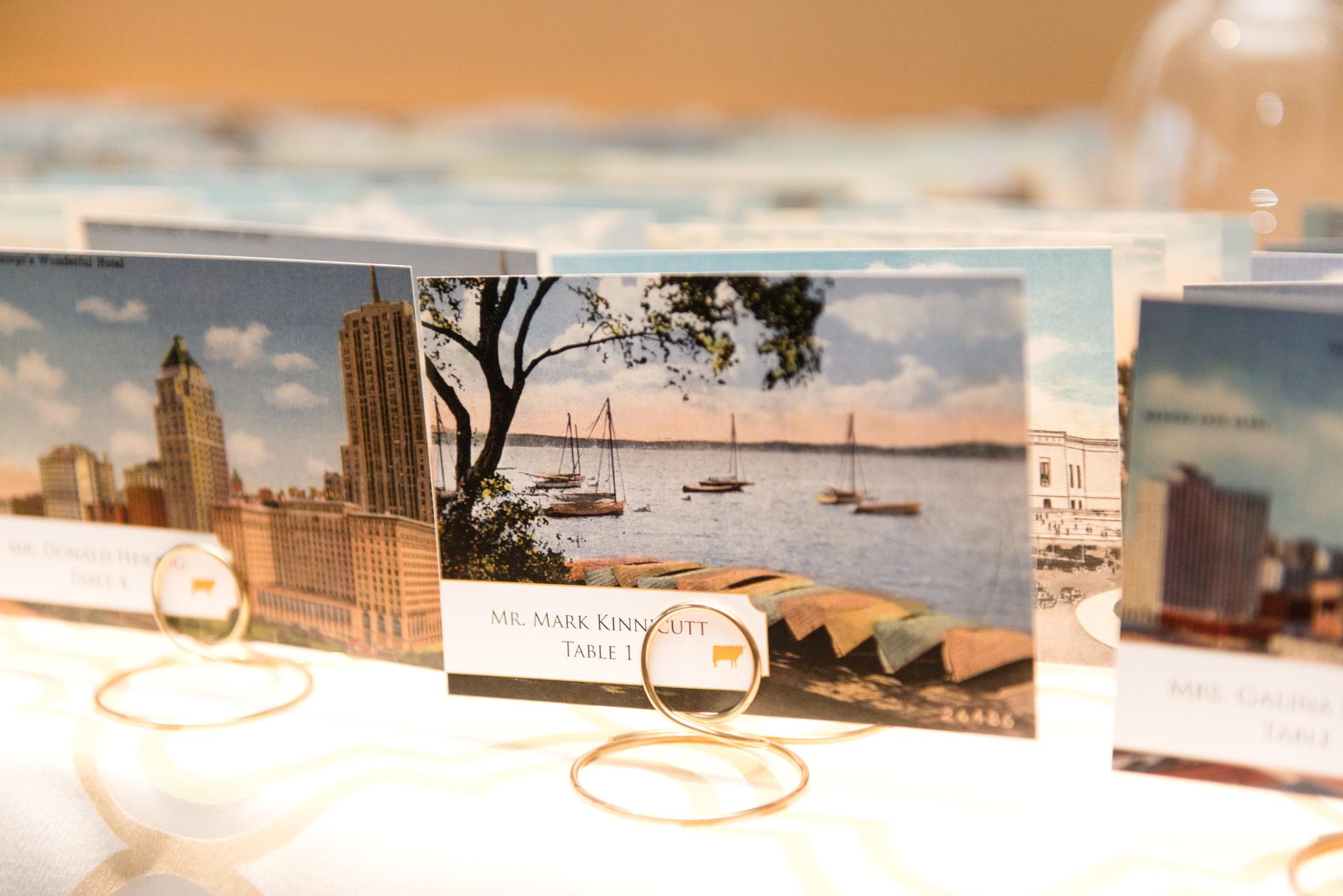 Vintage Postcard Place Cards