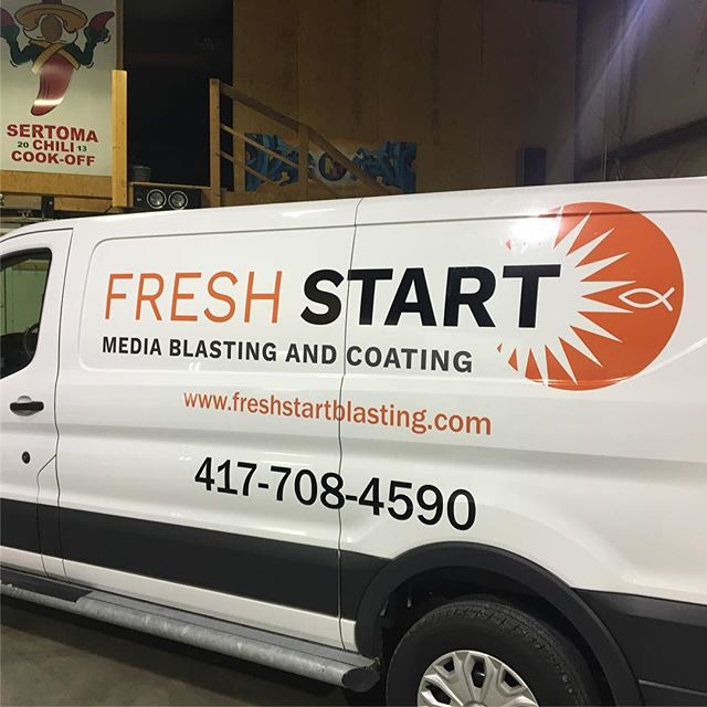 Wrap we completed for our good friends at Fresh Start.  #vinyl #wrap #mediablasting #417spots