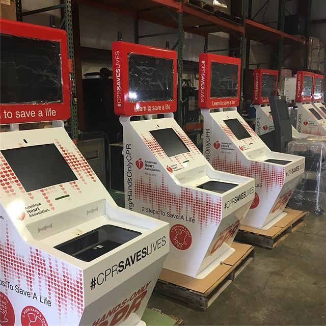 Wrapped these kiosks.  Lot of work but they turned out looking great.  #wrapped #cpr