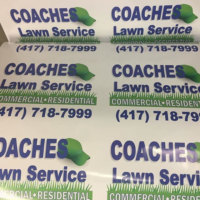 Yard signs for a yard company. #vinyl #yard