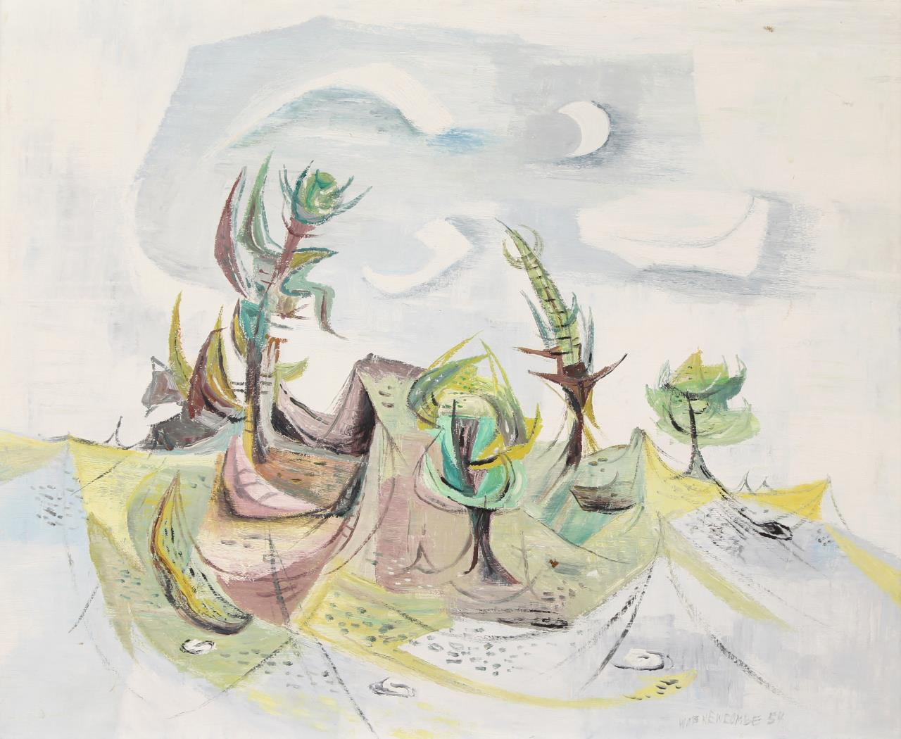 William Newcombe, Abstract Landscape ca 1954