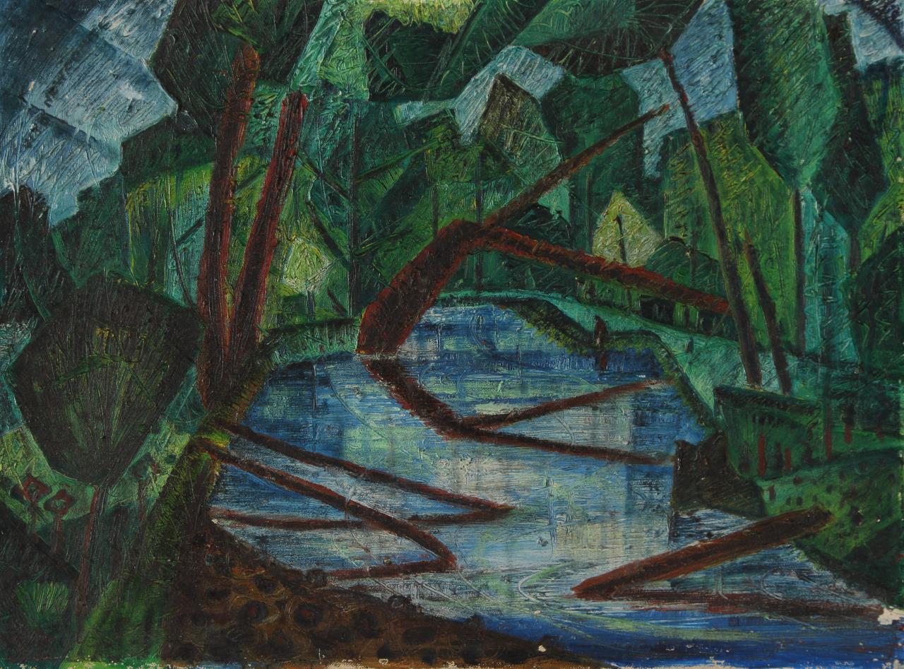 William Newcombe, A Bracebridge Stream, 1949