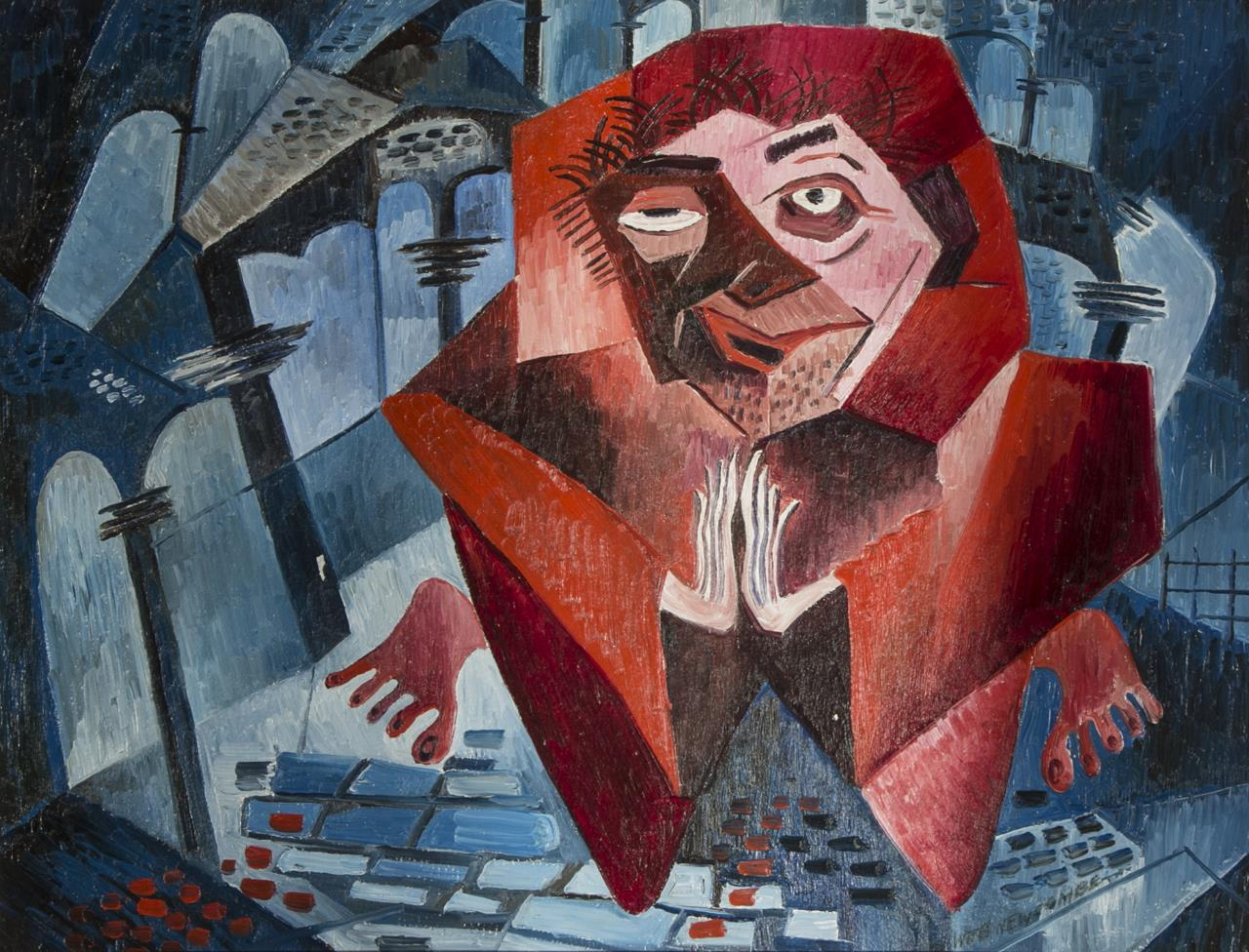 William Newcombe, Red Monk ca. 1949