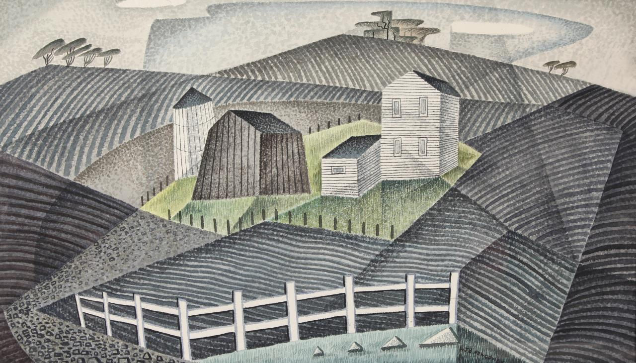 William Newcombe, The Plowed Land ca. 1953