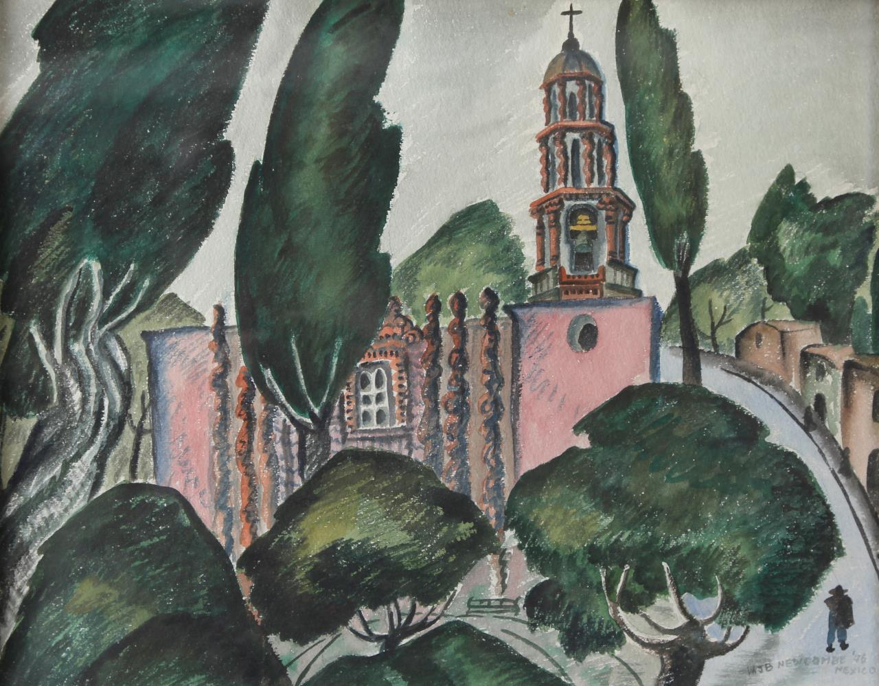 William Newcombe, Pink Church, San Miguel de Allende, 1946