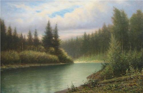 Arthur Burchett, Cowichan River at Duncan