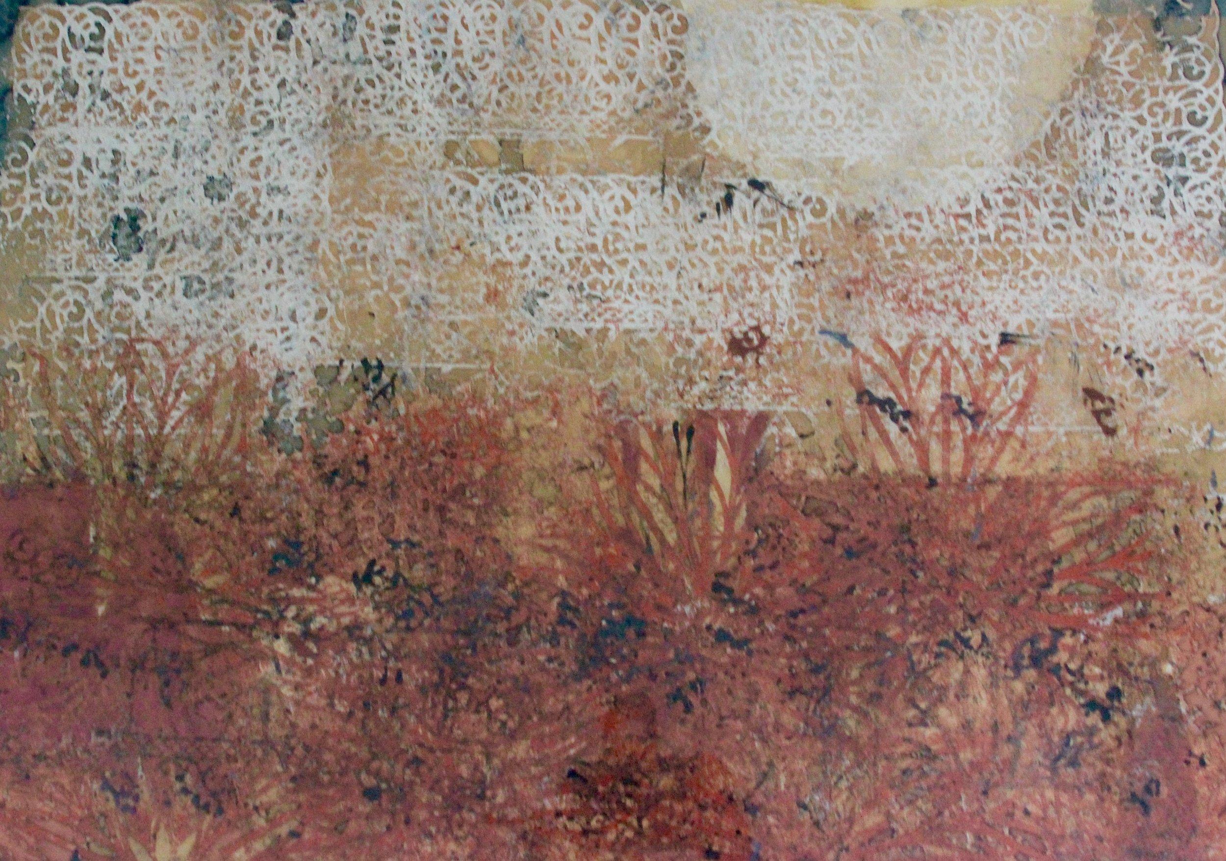 Maxwell Bates, Untitled (desert landscape), 1961