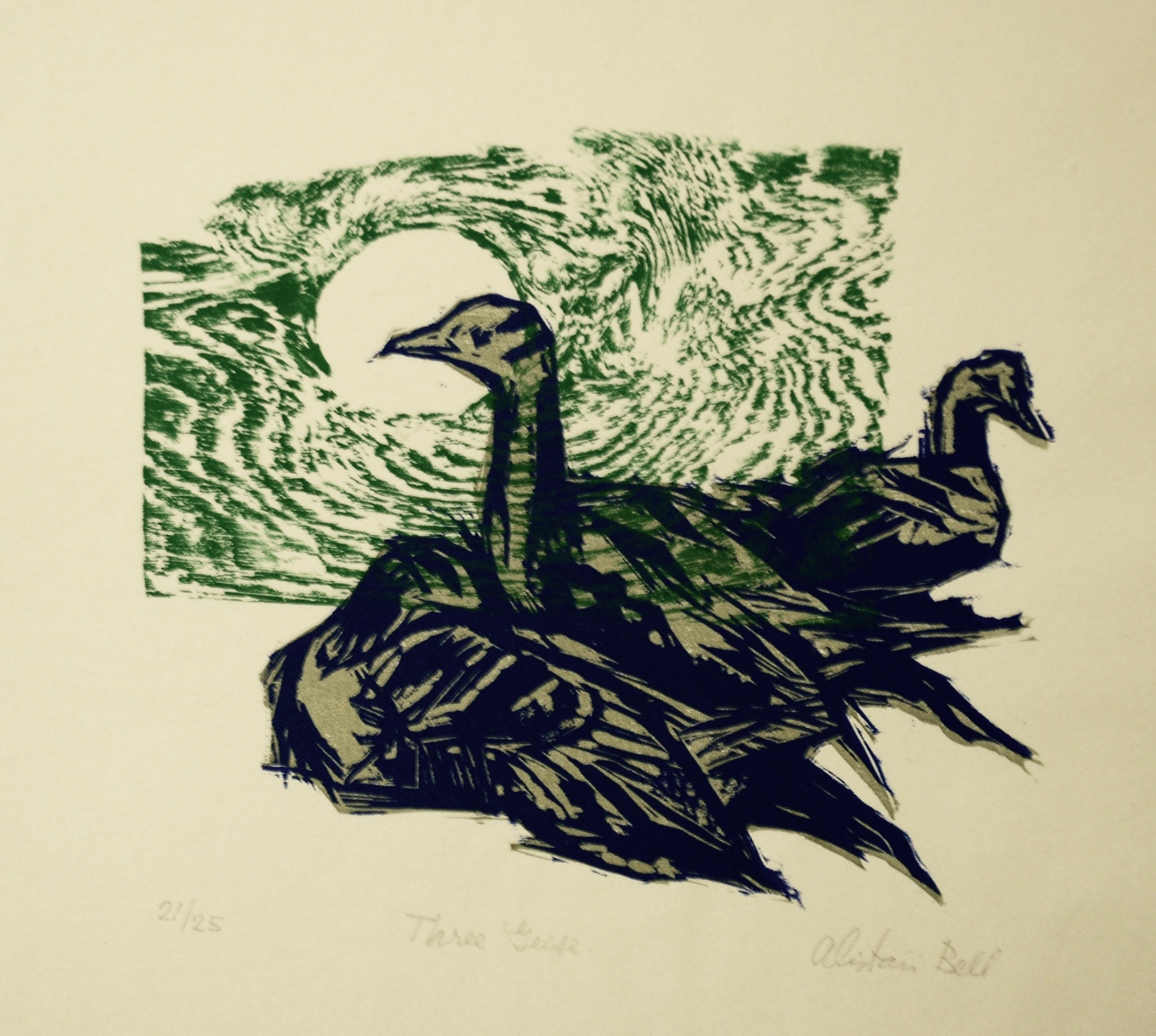 Alistair Macready Bell, Three Geese