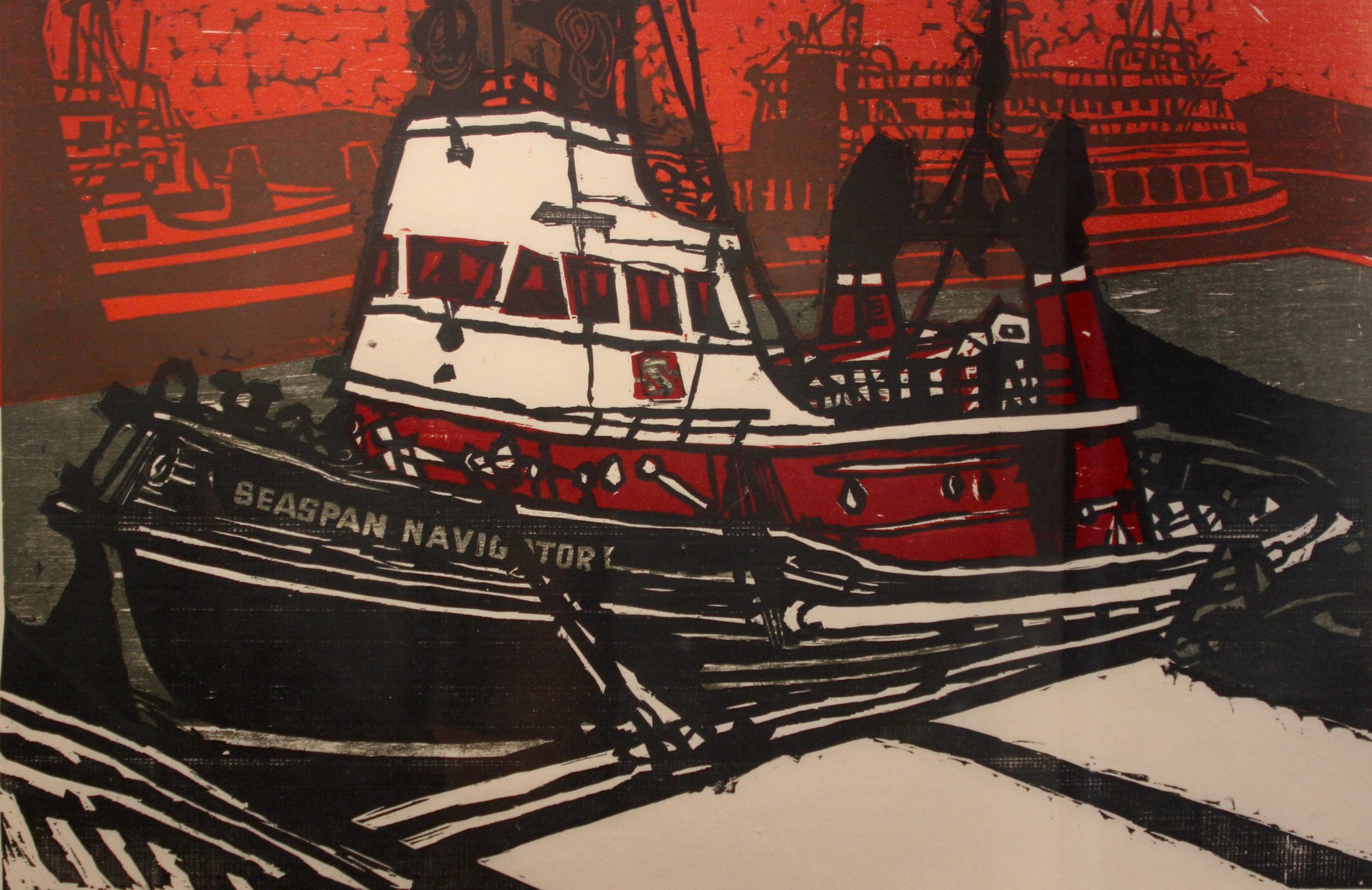 Alistair Macready Bell, North Shore Tugboat