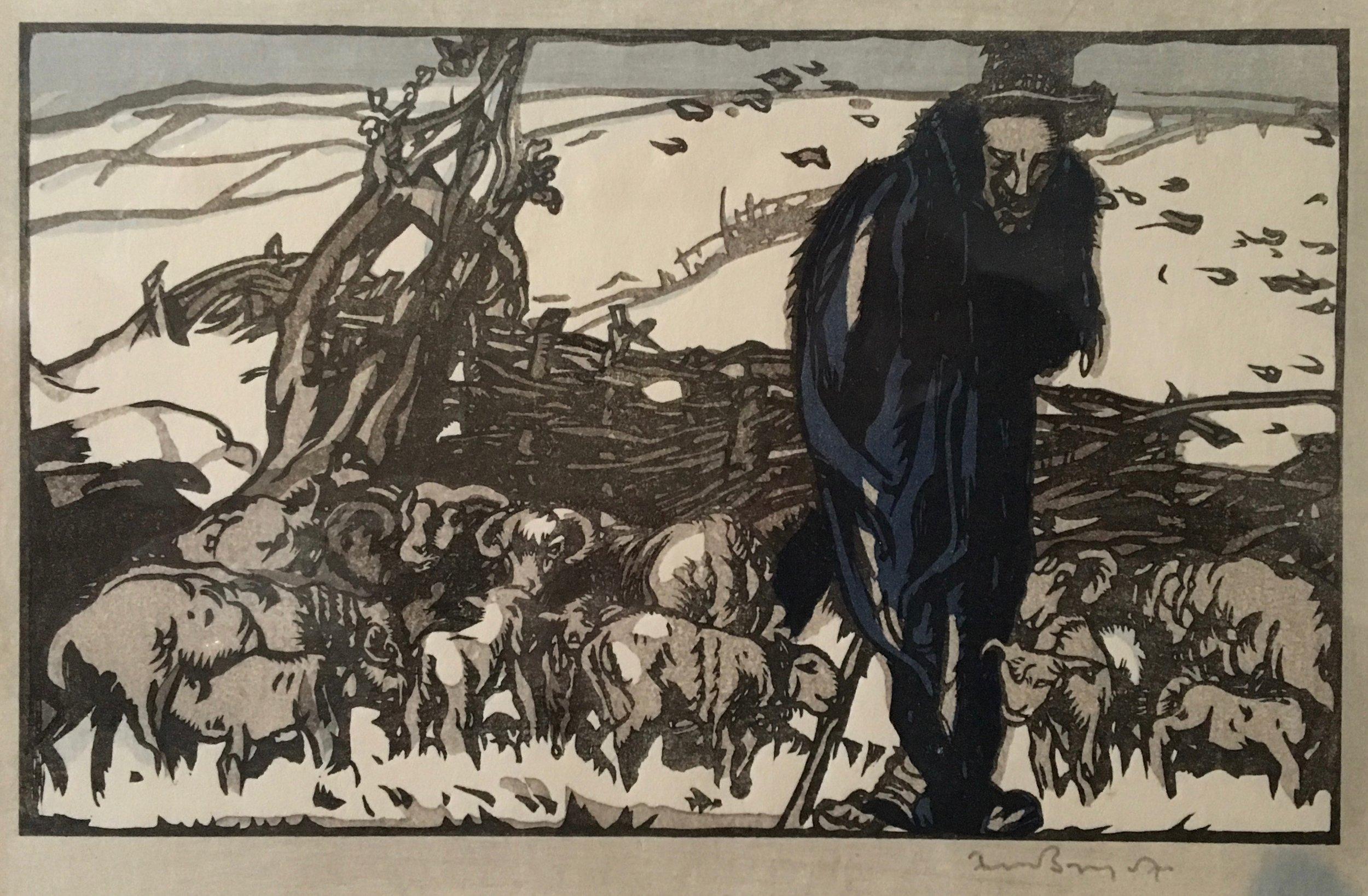 Frank Brangwyn, Old Herder, 1911