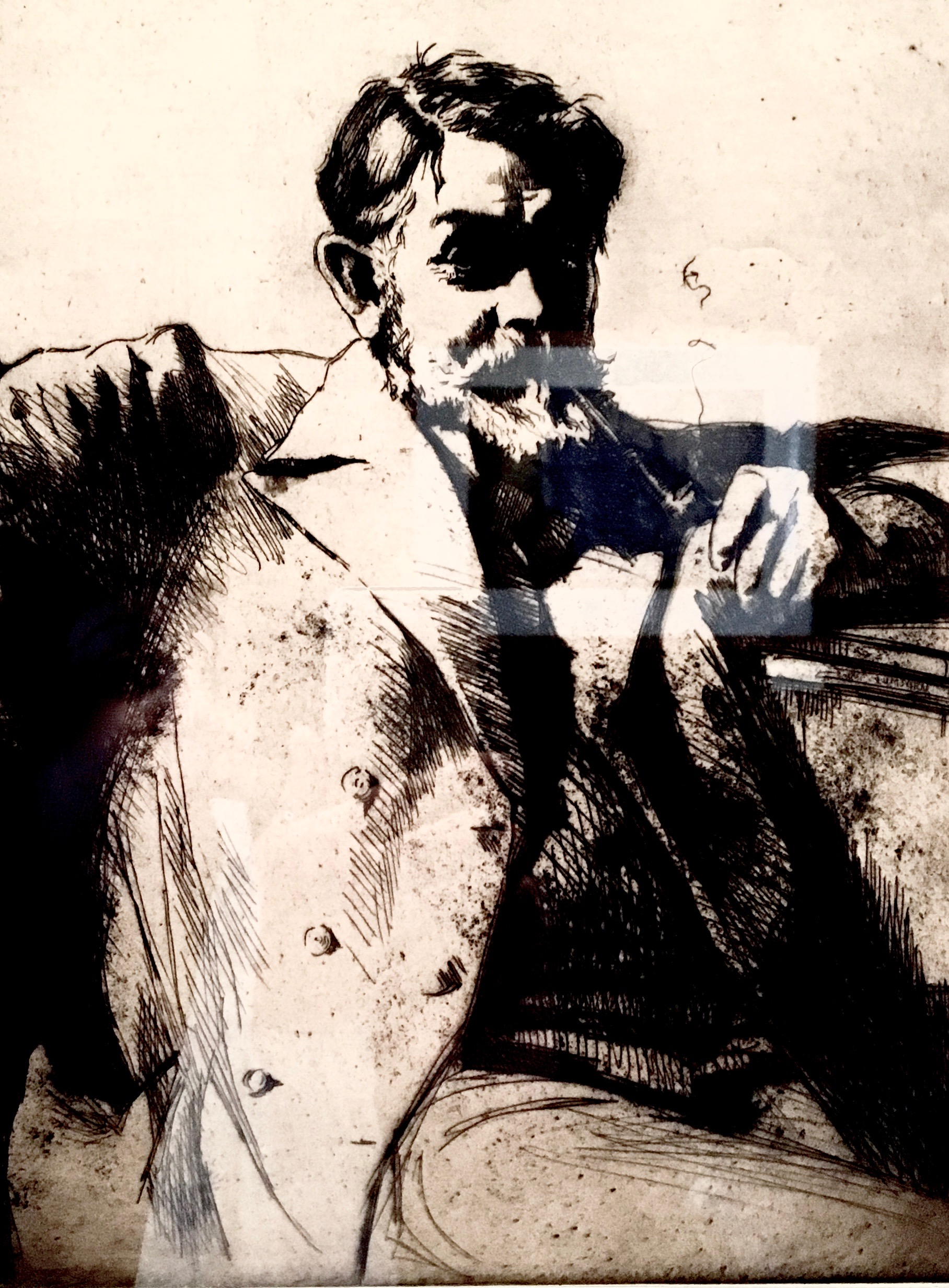 Portrait of Frank Brangwyn by Earnest Stephen Lumsden
