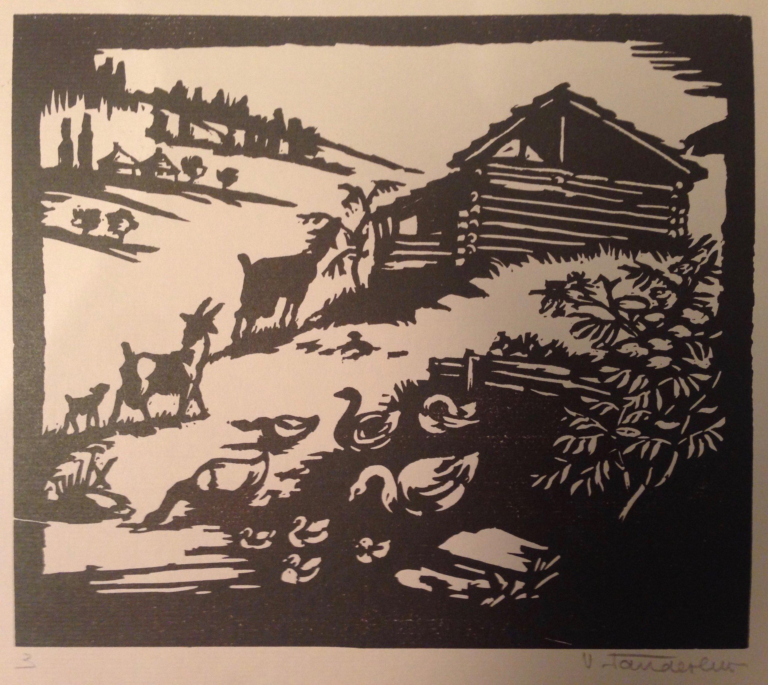 Velen Fanderlik, An Old Farmyard