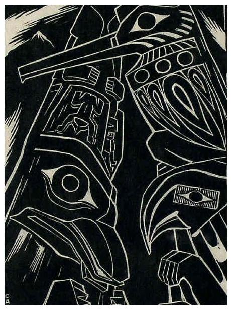 Caven Atkins, Totem Poles, 1931