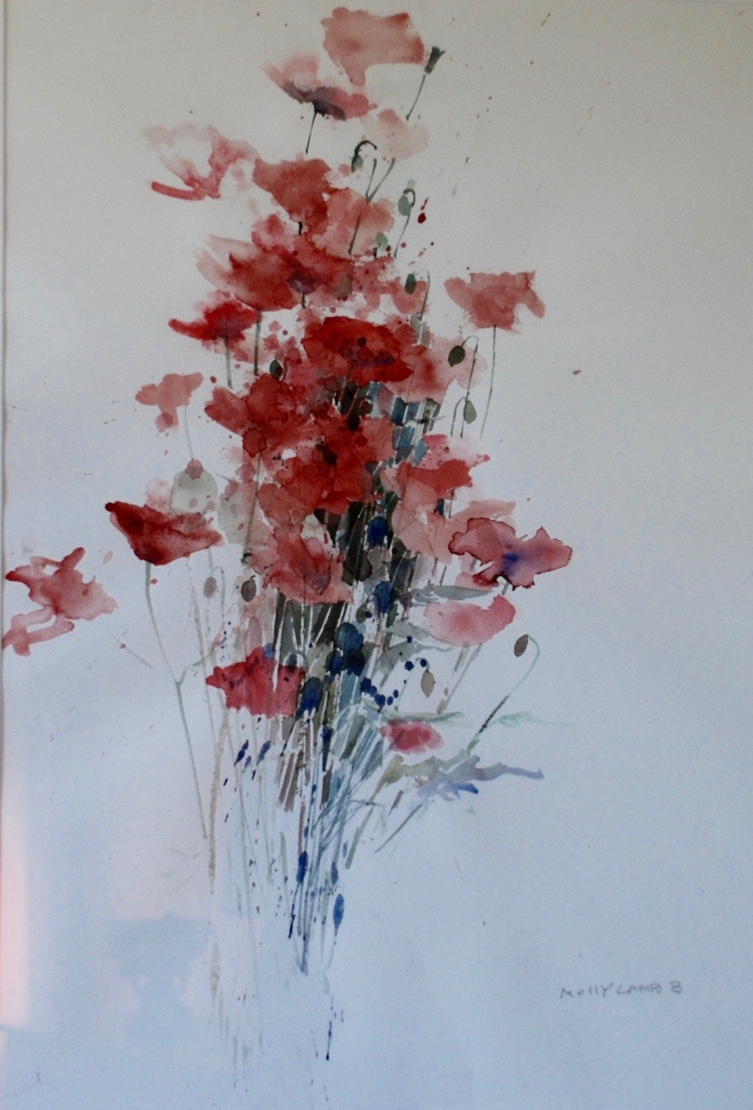 Molly Lamb Bobak, Untitled (poppies)