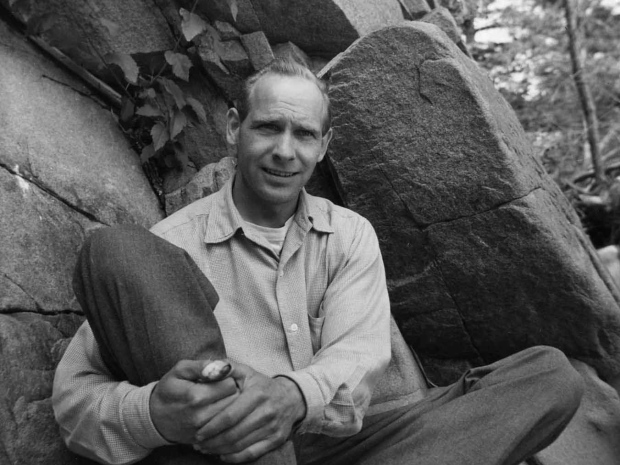 Bruno Bobak, Pender Island B.C., 1950s  (Photo courtesy of the Beaverbrook Art Gallery)
