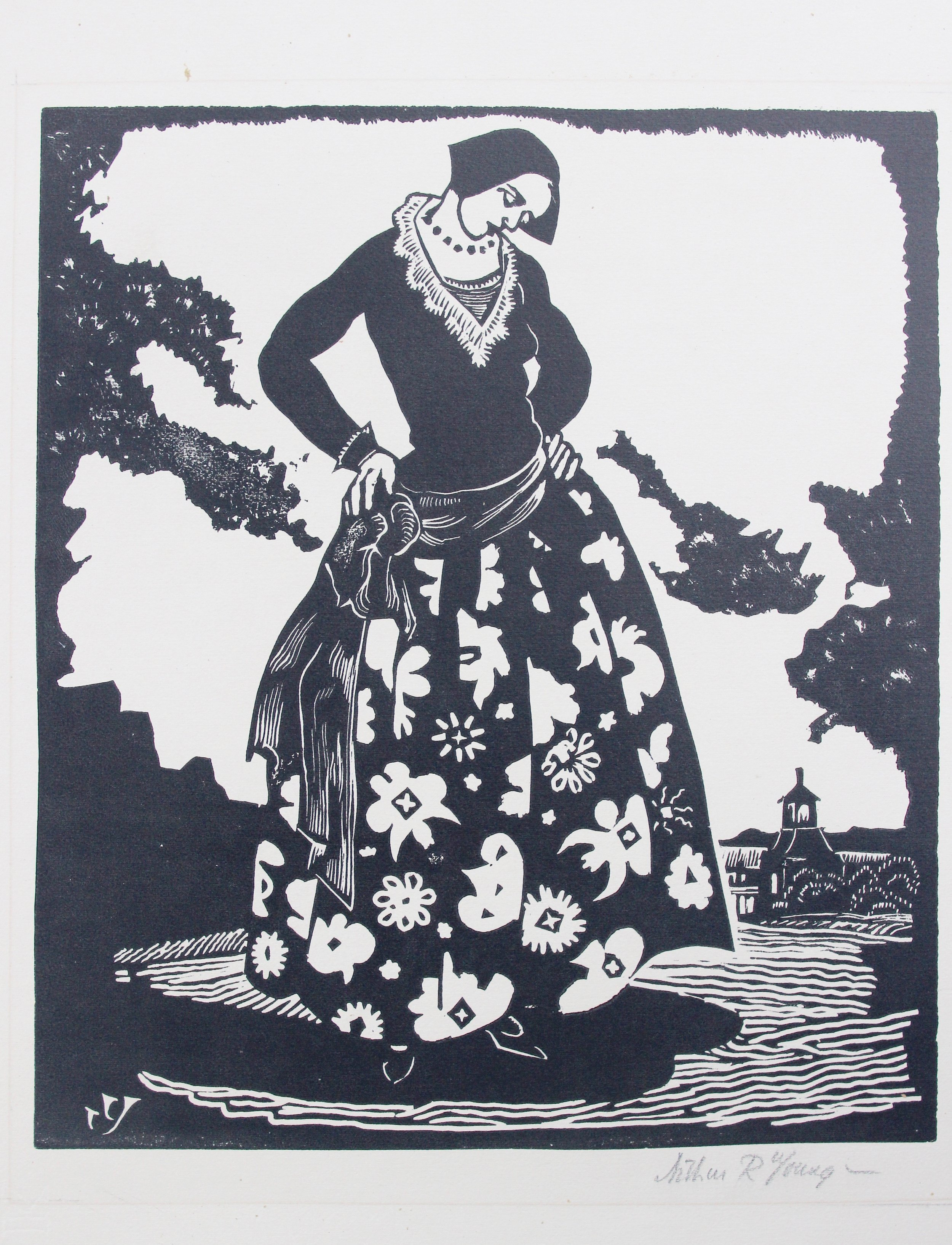 Arthur R. Young, Decorative Dress, c. 1924