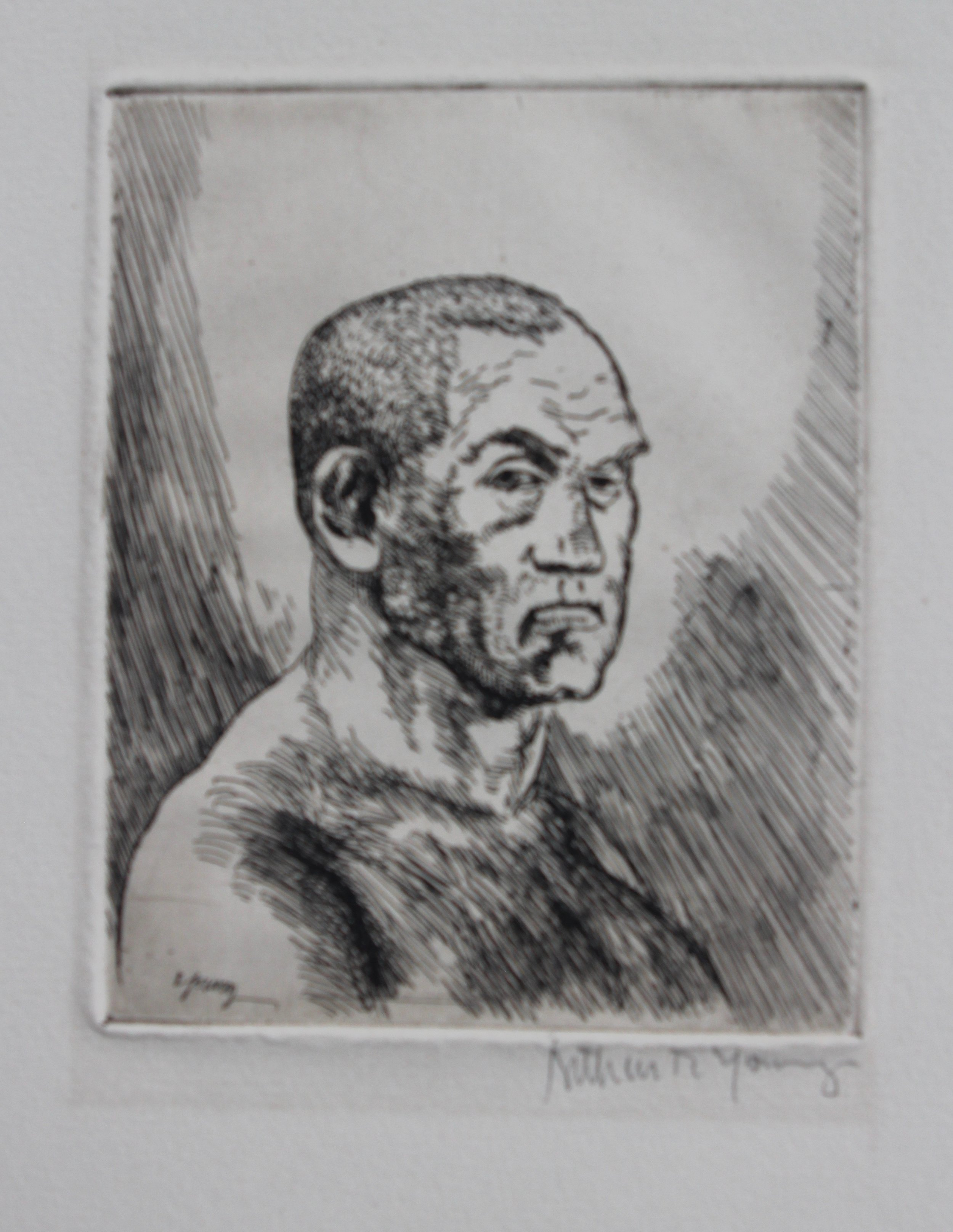 Arthur R. Young, Untitled (boxer), c. 1920