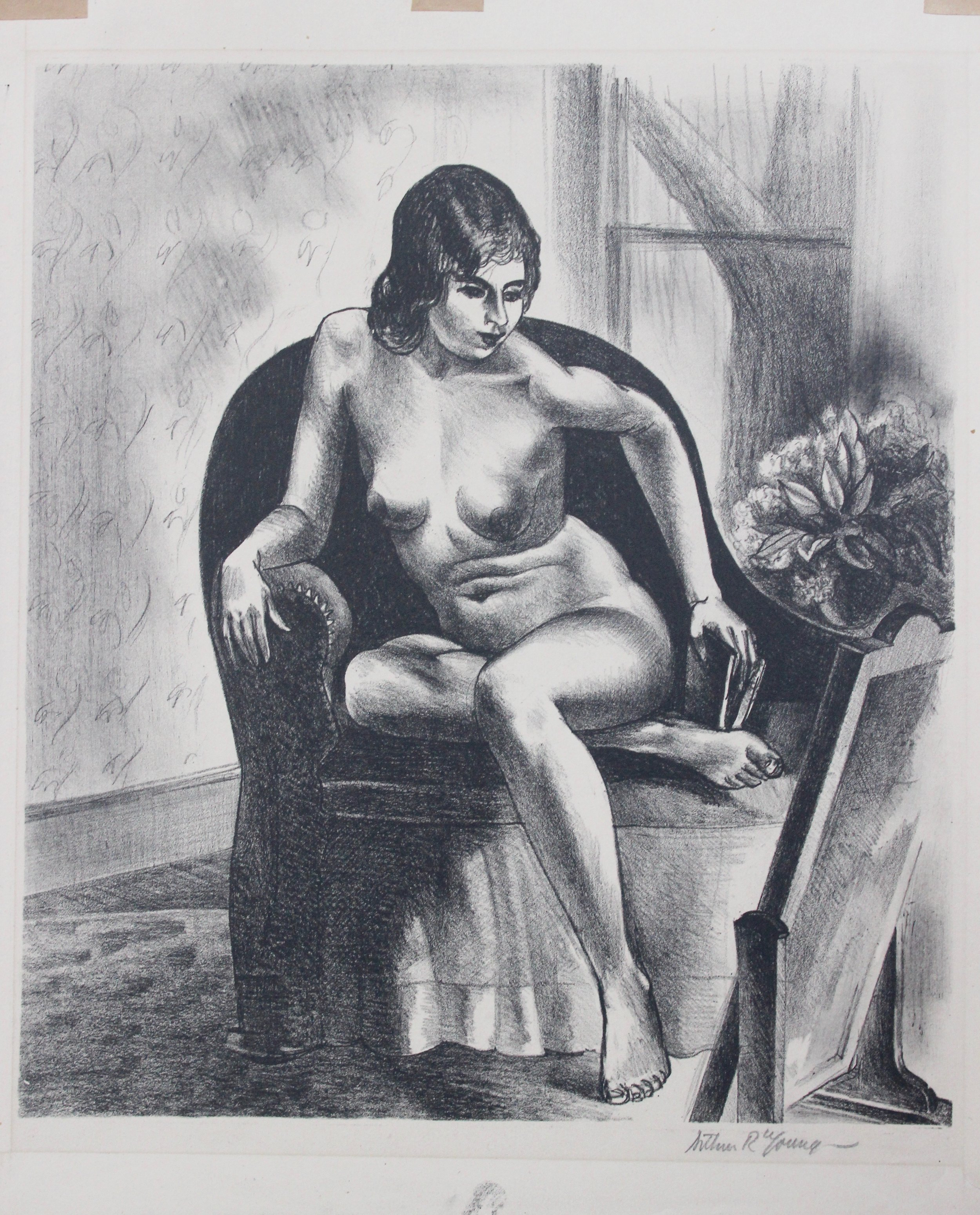 Arthur R. Young, Untitled (nude seated in chair), c. 1930