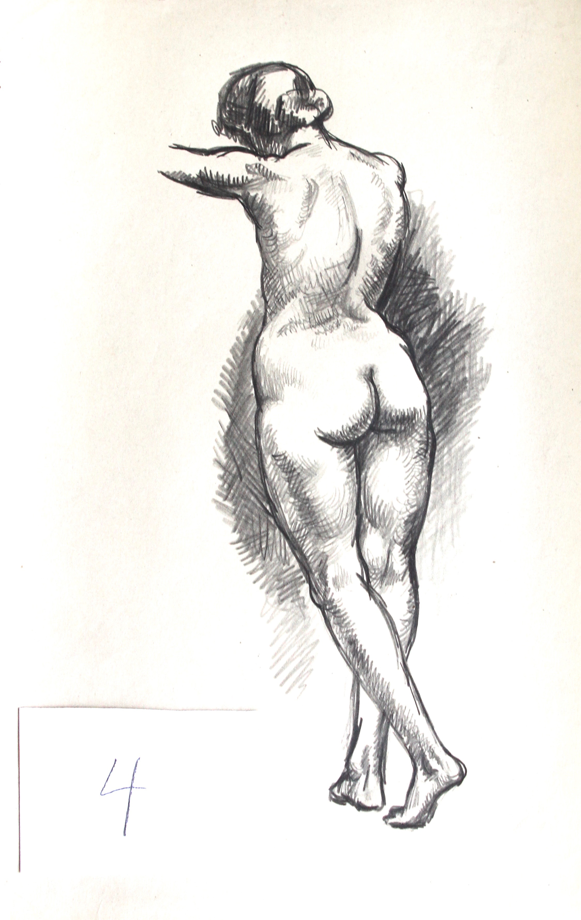 Arthur R. Young, Untitled (standing nude #4)