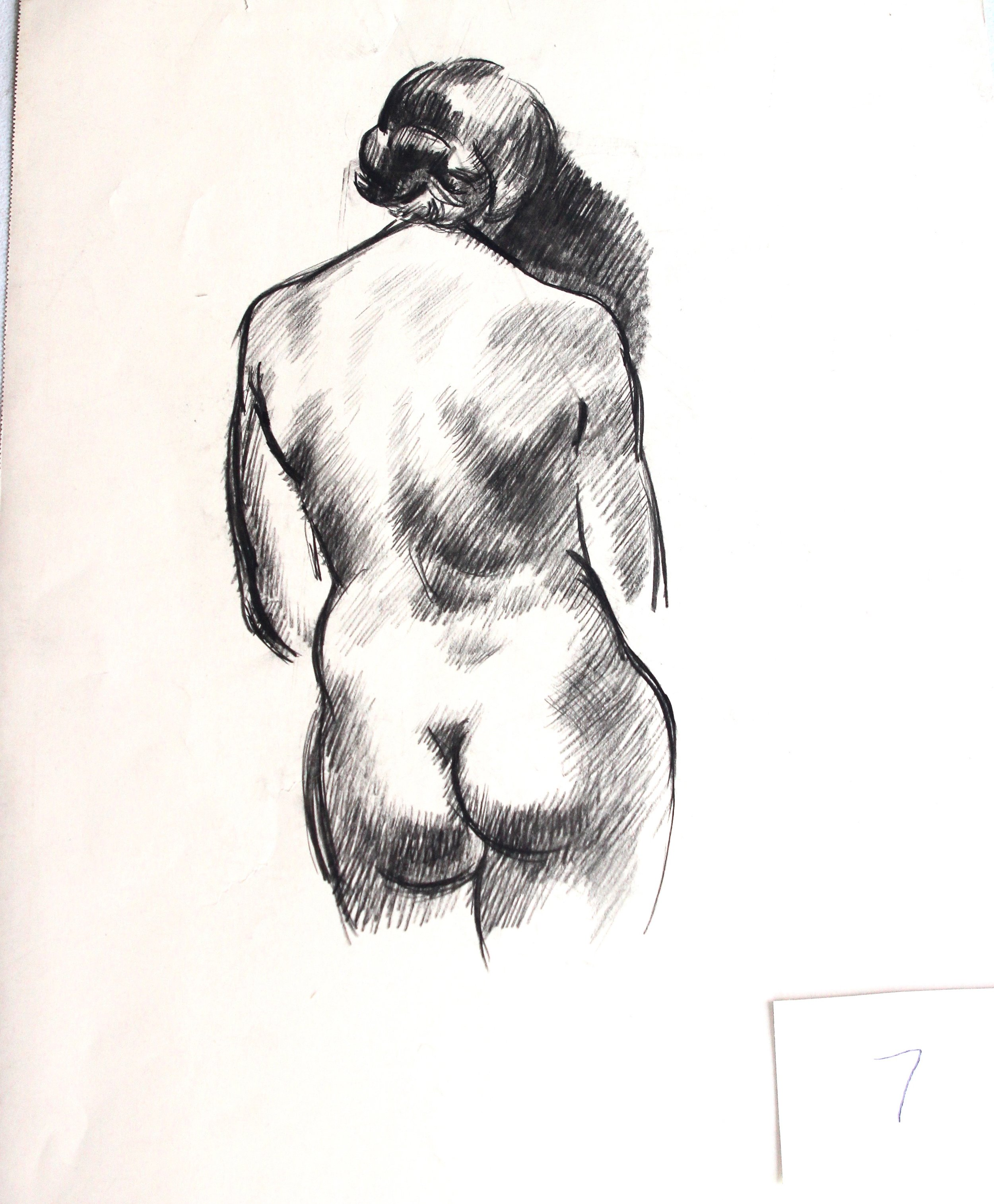 Arthur R. Young, Untitled (standing nude #7)