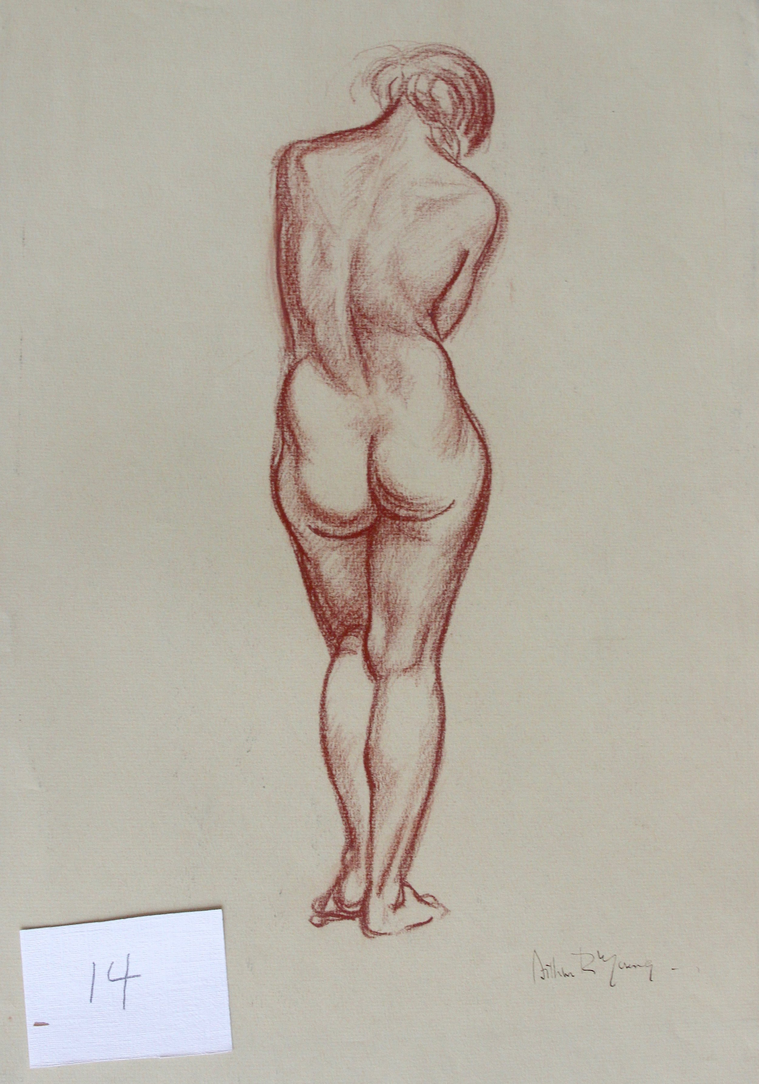 Arthur R. Young, Untitled (standing nude #14)