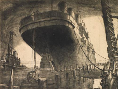 Paul Goranson, The Salvaged Liner, 1936