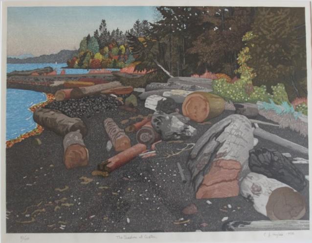 E.J Hughes, The Seashore at Crofton, 1998